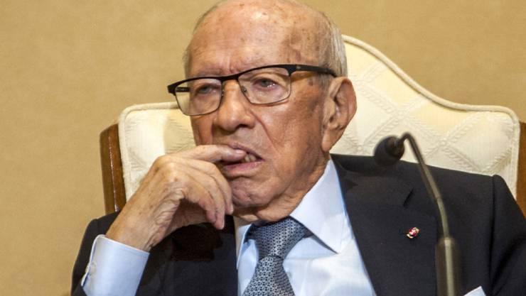Der Gesundheitszustand von Tunesiens Präsident Béji Caïd Essebsi soll sich wieder gebessert haben. (Archivbild)