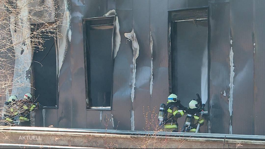 Brand in Lüsslingen: Industriegebäude in Flammen