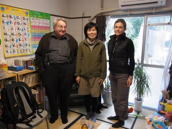 Martin Walter mit Yuko Nishiayama, betroffene Mutter aus der Region Fukushima und Buchautorin Susan Boos