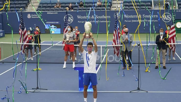 Am Samstag gewann Novak Djokovic das nach New York verlegte Masters-Turnier von Cincinnati. Er ist in diesem Jahr noch ungeschlagen.