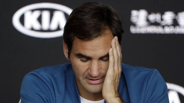 Roger Federer übt sich vor den Australian Open in Zurückhaltung.