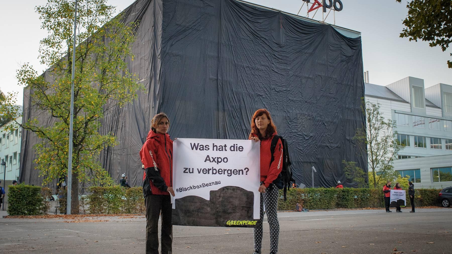 Greenpeace-Protest wegen AKW Beznau