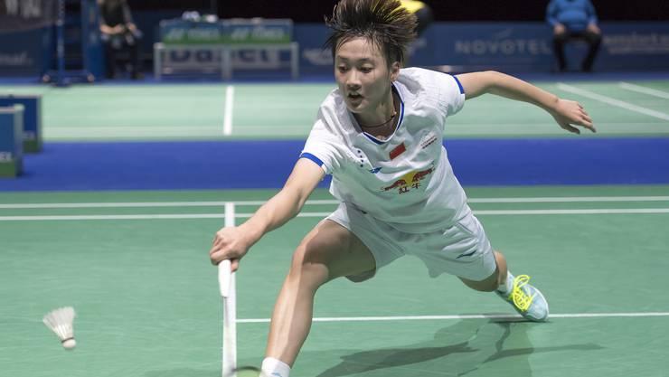 Die Chinesin Chen Yufei an den YONEX Swiss Open in Basel.