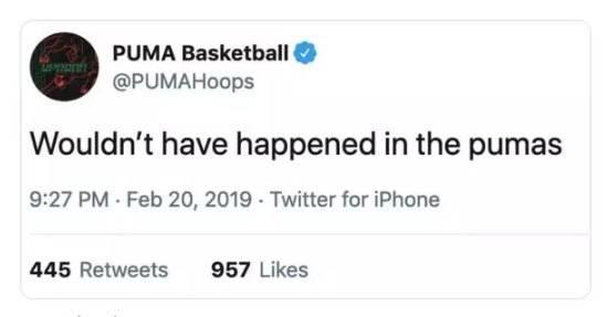 Der gelöschte Puma-Tweet