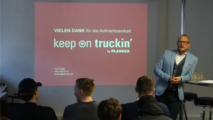 Planzer-Geschäftsführer Thomas Koller gab seine Begeisterung weiter.