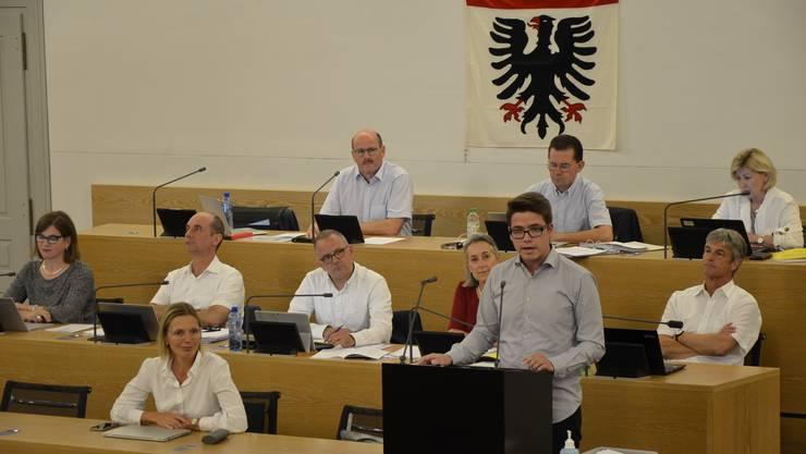Einwohnerrat Matthias Zinniker (FDP) plädierte für ein Nein.