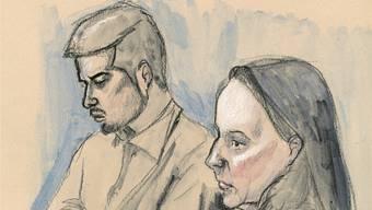 Vierfachmörder Thomas N. und seine Verteidigerin Renate Senn beim Prozess vor dem Bezirksgericht Lenzburg.