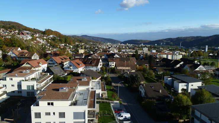 Blick über Untersiggenthal vom Dach des Alters- und Pflegeheims Sunnhalde