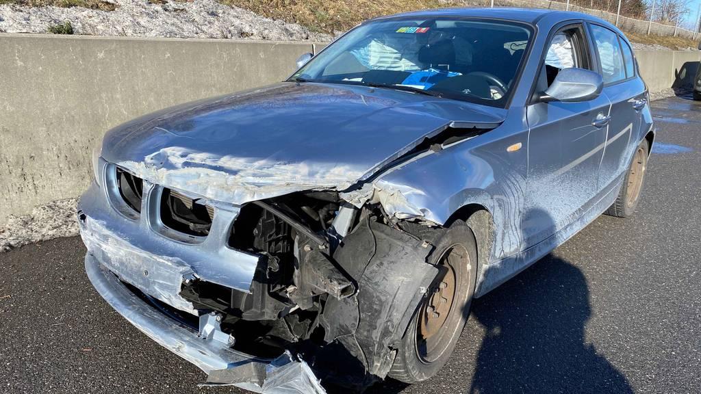 Auto ausgebremst und Unfall verursacht