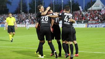 Bildergalerie vom Match Aarau - Servette
