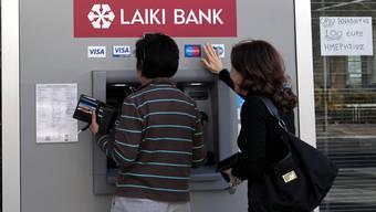 Die Laiki Bank auf Zypern schliesst die Tore.