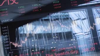 Der Leitindex SMI der Schweizer Börse versucht sich nach den Verlusten des Vortages an einer zaghaften Erholung (Archivbild).