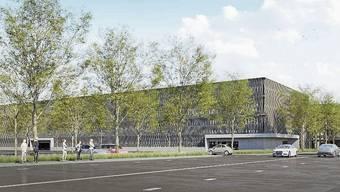 Dank des 12 Millionen Franken teuren Parkhauses soll es beim KSA netto 465 zusätzliche Parkplätze geben.