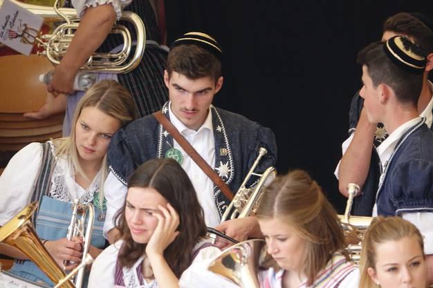 Musikgesellschaft Echarlens - eine von vielen musikalischen Gastformationen, die auf den zwei grossen Festbühnen spielten