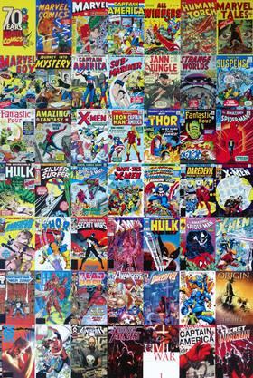 2009 kauft Disney für 4.3 Milliarden Dollar den Comic-Verlag Marvel. Und sicherte sich die Recht an all den oben abgebildeten Comic-Helden