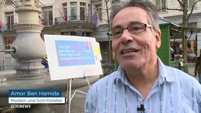 Muslim demonstriert im Edelweiss-Hemd