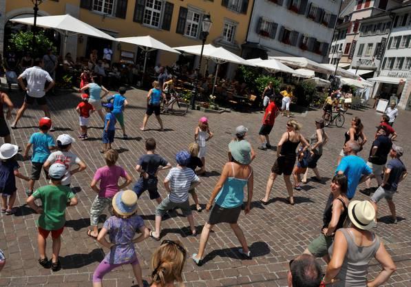 Street Perfomance auf dem Marktplatz