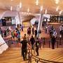 Besucher warten auf den Beginn des Konzertes «Come together» in der Elbphilharmonie. Foto: Axel Heimken/dpa