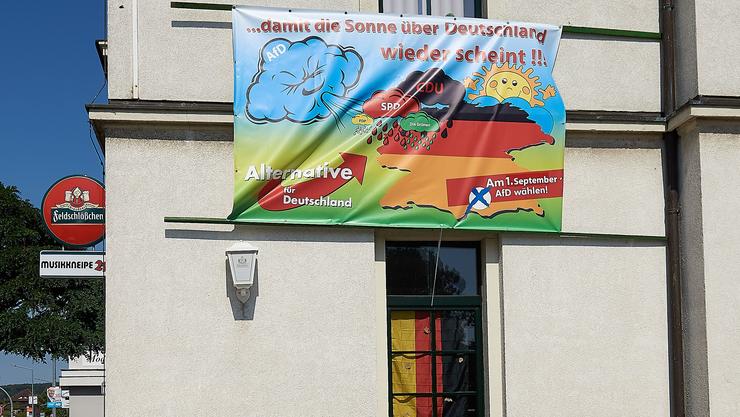 Wahlplakat der AfD in Freital.