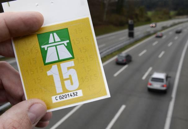 Die Autobahn-Vignette 2015.