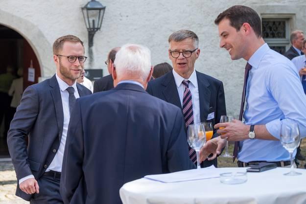 Michael Wanner (ganz links) ; Peter Wanner und Thierry Burkart