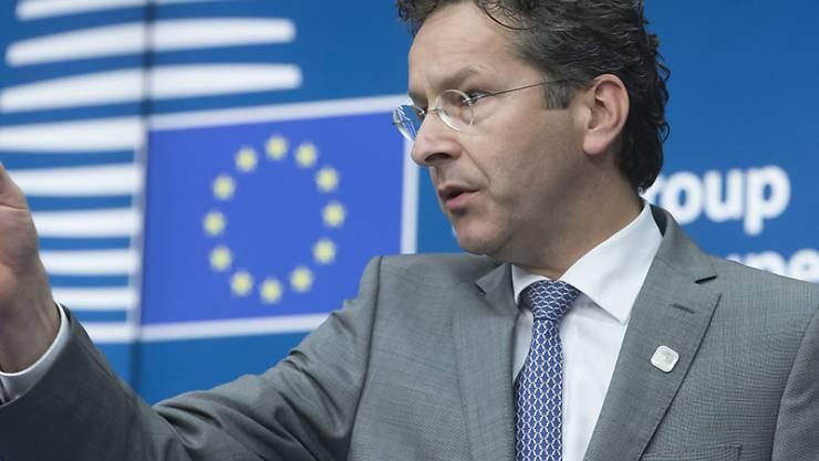 Euro-Gruppenchef Jeroen Dijsselbloem gibt sich nach dem Treffen der Euro-Finanzminister verhalten optimistisch