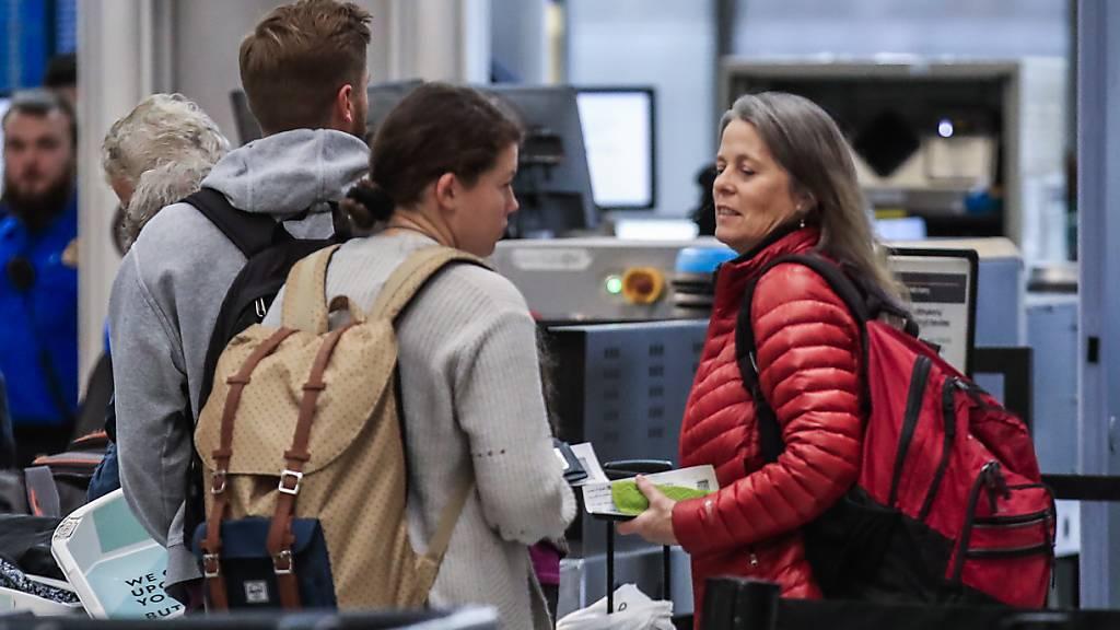 Mehr Waffen bei Passagierkontrollen an US-Flughäfen sichergestellt