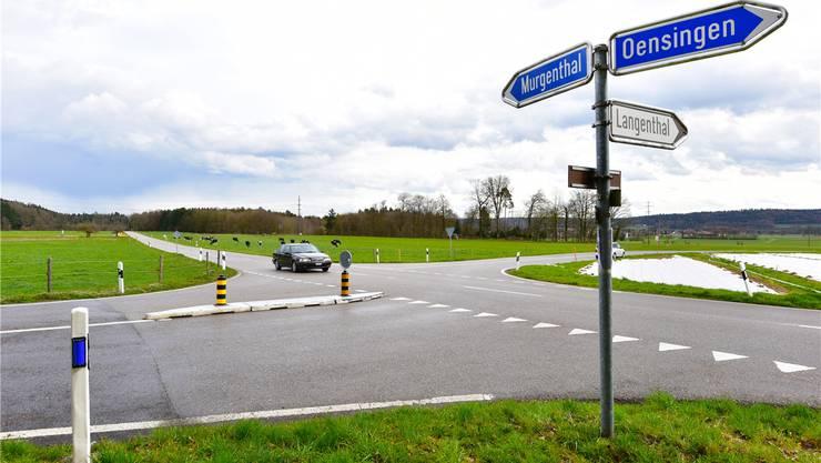 Die Schweissackerkreuzung in Niederbuchsiten wurde am 27. August 2014 einem Motorradfahrer zum Verhängnis.