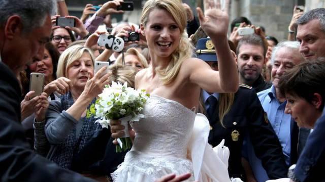 Glückliche Braut: Michelle Hunziker (Archiv)