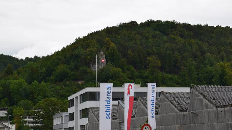 Die Schweizerfahne ziert den Liestaler Hausberg von Neuem. Die patriotische Flagge ist von weitherum zu sehen.