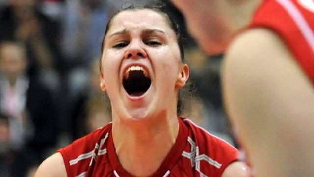 Jelena Alajbergs Freudenschrei nach einen Punktgewinn