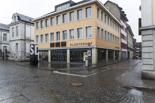 Klosterhof Klosterplatz. Zukünftiger Standort von Stoffartig