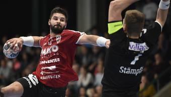 Topskorer Milan Skvaril fehlt dem HSC Suhr Aarau in Schaffhausen verletzt.