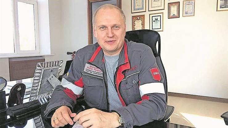 Enver Tkitischwili, Direktor Stahlwerk «Azovstal»: «Wir wollen zeigen, dass es sich lohnt, hier zu bleiben und für die Ukraine zu arbeiten.»