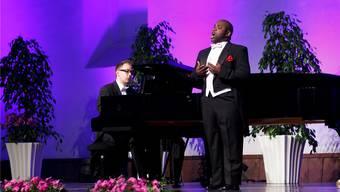 Lawrence Brownlee und sein Pianist zogen die Zuhörer in ihren Bann.