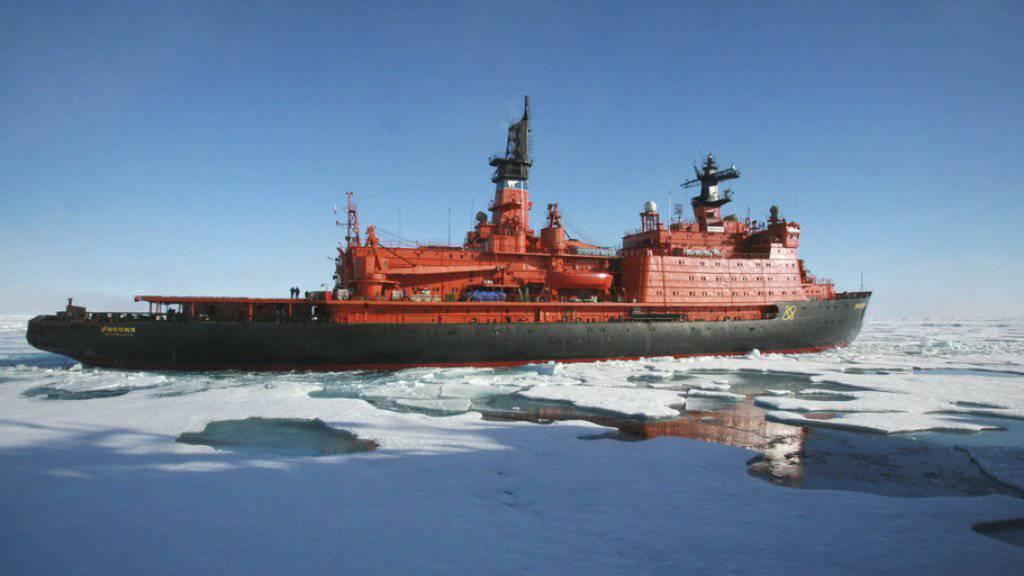 Russischer Eisbrecher unterwegs in der Arktis. (Archiv)