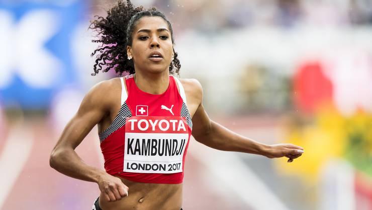 Mujinga Kambundji im Qualifikationslauf an der WM in London