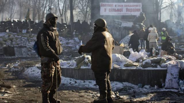 Demonstranten in Kiew (Archiv)