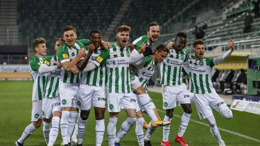 Der FC St.Gallen stösst auf Rang drei vor