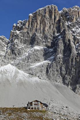 Beeindruckend: Die Carschinahütte auf 2236 Metern über Meer