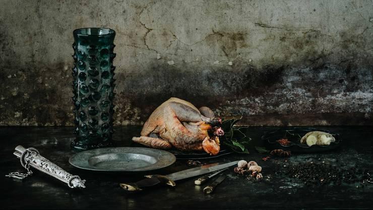 Eine typische Speise für Vornehme Leute im 15. und 16. Jahrhundert war Fasan, gewürzt mit Lorbeer, Ingwer, Pfeffer, Muskat und Nelken.