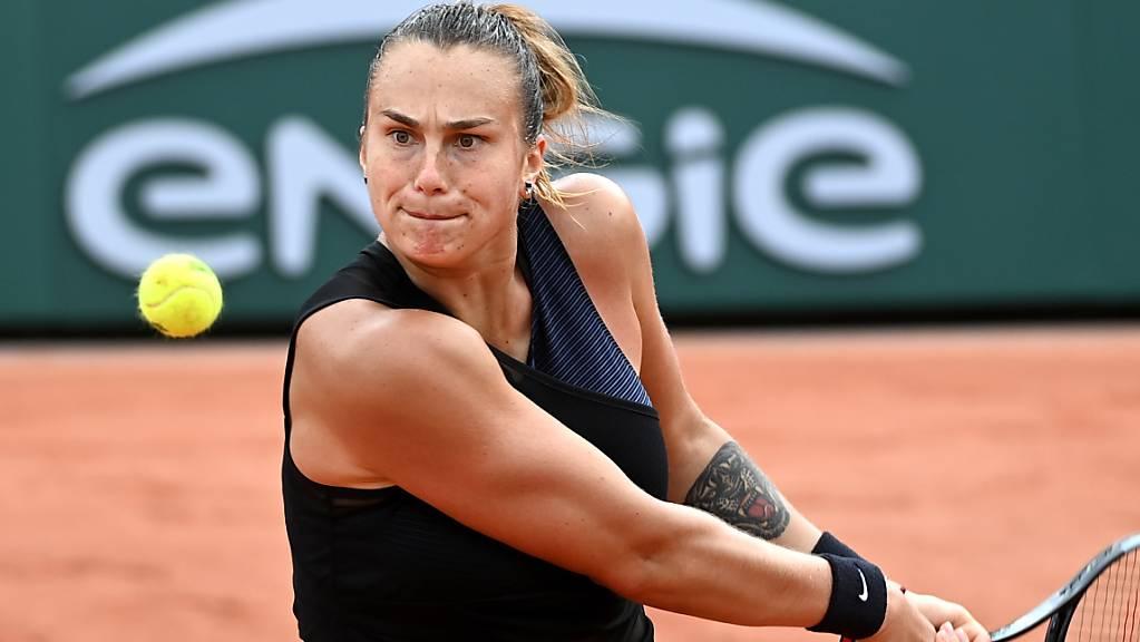 Viel Power, zu wenig Präzision: Aryna Sabalenka scheiterte am French Open in der 3. Runde.