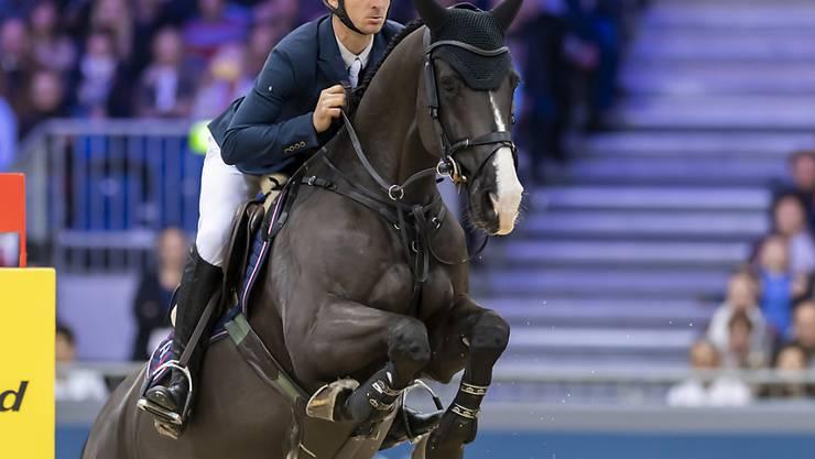 """Lokalmatador Steve Guerdat avancierte mit seinem Triumph im """"Coupe de Genève"""" beim CHI Genf zum alleinigen Rekordsieger"""
