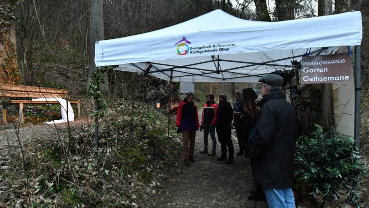 Eines der 13 Zelte die aufgestellt wurden.