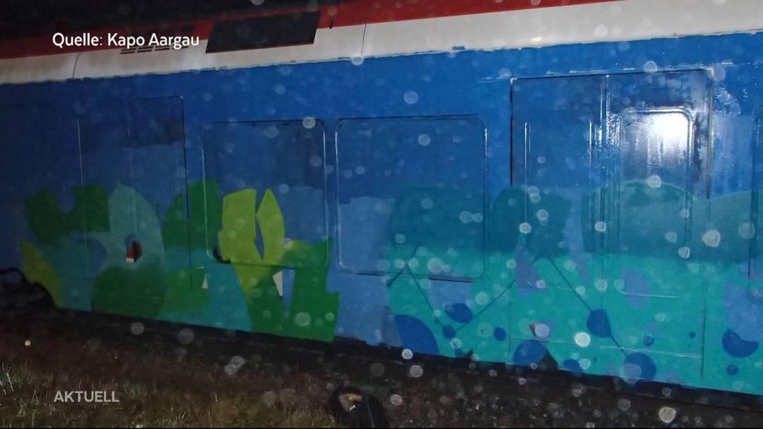 Aargauer Sprayer-Paar wegen rund 100 Graffitis zu bedingten Gefängnisstrafen verurteilt