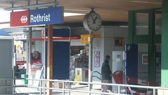 Der Vorfall ereignete sich am Bahnhof Rothrist.