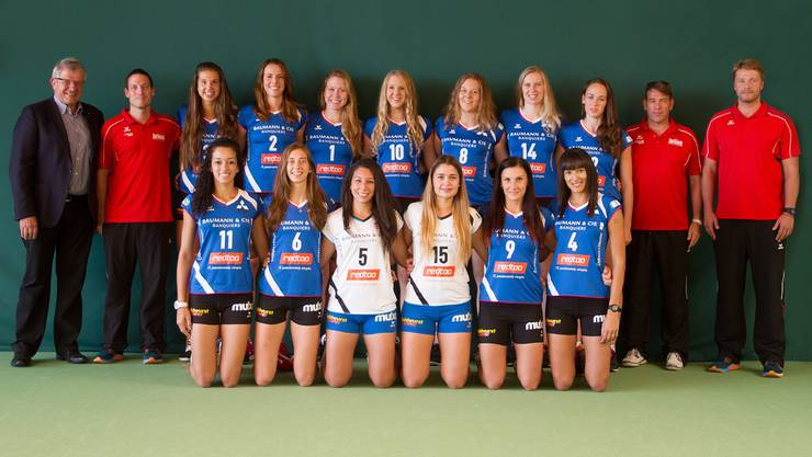 Die Volleyballerinnen von Sm'Aesch Pfeffingen wollen in der kommenden Saison aufs Podest.
