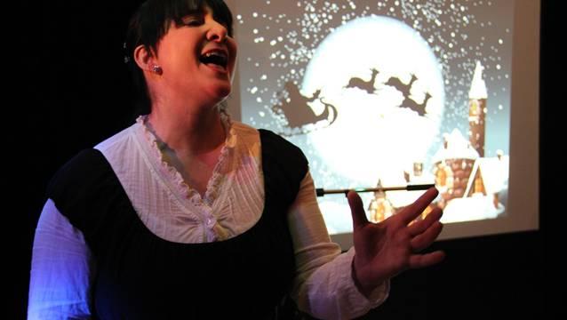 Natalie Rüttimann alias Sängerin Nataly sang rührende Weihnachtslieder.