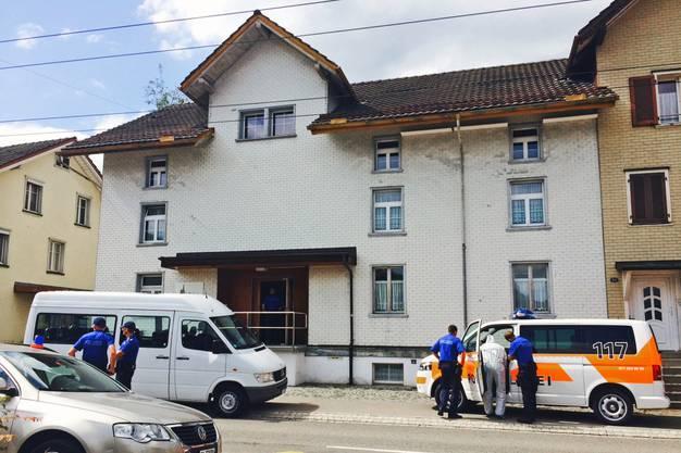 Die Polizisten trafen am Tatort auf den mutmasslichen Täter