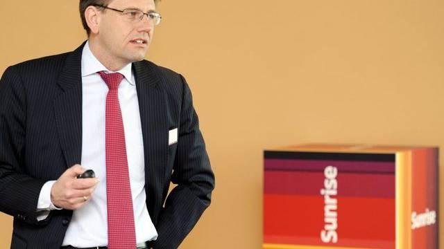 Gute Zahlen: Sunrise mit CEO Oliver Steil (Archiv)